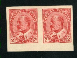 Canada 90a  Imperf.   Pair   Mint VF 1903   PD