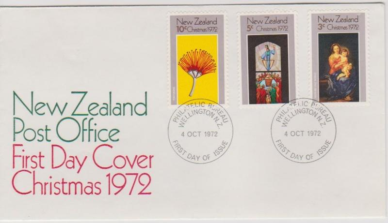 New Zealand 1972 Christmas First Day Cover