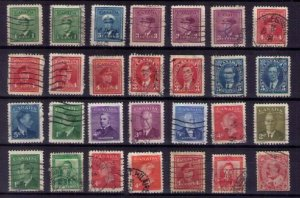 Lot 28 EA Sc 231-235 Canada Early 1937-1943 KGVi with others F-VF