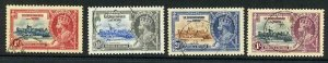 St Christopher and Nevis SG61/64 1935 Silver Jubilee Set Used