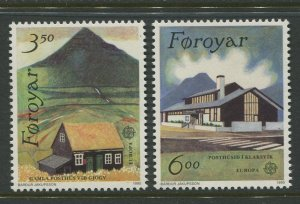 STAMP STATION PERTH Faroe Is.#205-206 Pictorial Definitive Iss.MNH 1990 CV$3.50