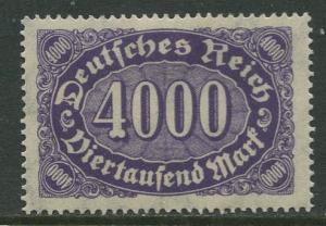 GERMANY. -Scott 207 - Definitives -1922- MLH - Wmk 126 - Single 4000m Stamp