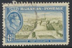 Bahamas SG 159 Sc# 107 Used  Fort Charles