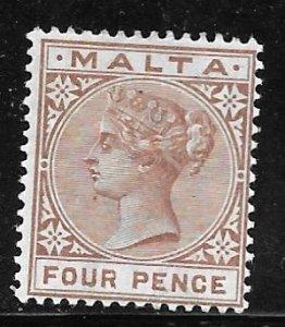 Malta 12: 4d Victoria, MH, F
