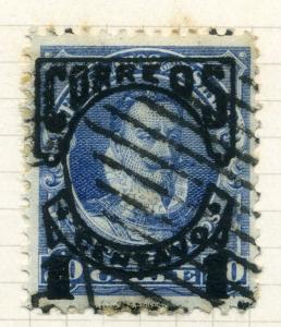 CHILE;  1904 early CORREOS Valdivia surcharge issue used 1c. value