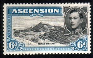 ASCENSION 1938-53 GVI 6d perf 13 SG43a fine mint...........................51619