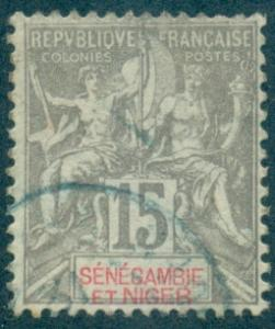 Senegambia & Niger #6  Used  Scott $16.00