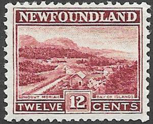 Newfoundland Scott Number 141 FVF LH