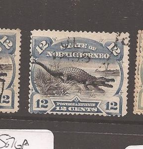 North Borneo 12c Crocodile SG 75 VFU (6avr)
