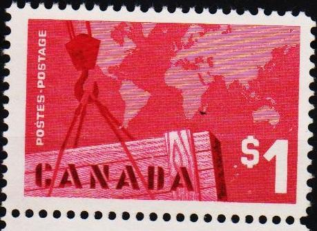 Canada. 1963 $1 S.G.536 Unused/No Gum