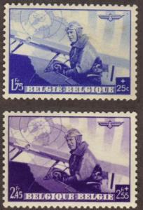 Belgium #B212-13 MH pilot & plane