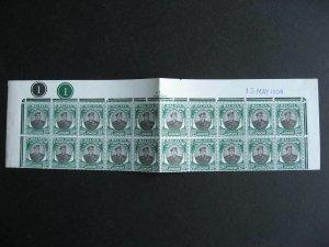 Malaya Johore MNH Sc 141 plate block of 20 folded check it out!