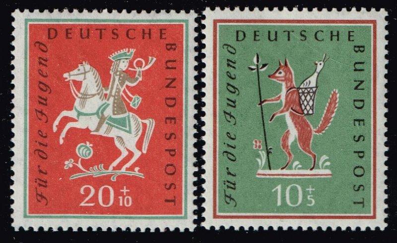 GERMANY SEMI POSTAL STAMP 1958 Youth Study Tours MH/OG SET