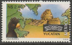 MEXICO 1795, N$2.40 Tourism Yucatan, bird, archeology. Mint, Never Hinged F-VF.