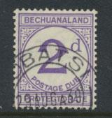 Bechuanaland Postage Due SG D6 thicker d  Used PO Cancel