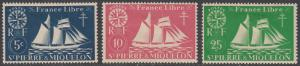 St. Pierre & Miquelon 300-302 MH short set CV $1.55