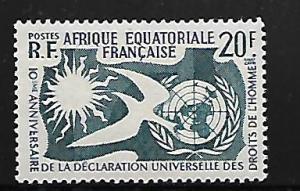 AFR. EQUATORIAL AFRICA 202 MNH HUMAN RIGHTS