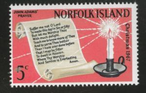 Norfolk Island Scott 115 MNH** 1967 Christmas stamp