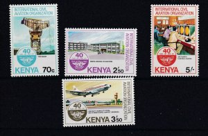 KENYA 1984  CIVIL  AVIATION SET OF 4   MNH