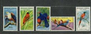 Senegal Sc#c26-c30 M/NH/VF, Birds, Cv. $49.25