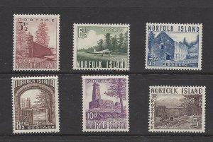 Norfolk Island 13-18 MH 1953
