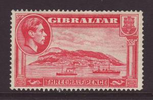 1938 Gibraltar 1½d Perf 14 Mint
