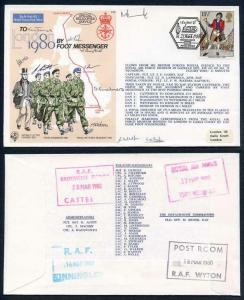 C64c To London by Foot Messenger Signed Fg Off Brook 10 Foot Messengers (D)