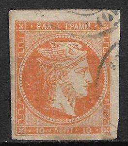 1880 Greece 54 Hermes 10 l used.