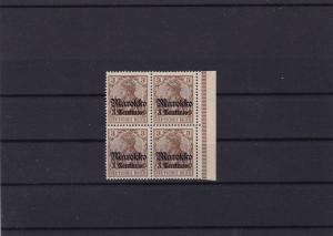 German Colonies  Morocco 1911 Yacht Type mint never hinged stamps block  R20945