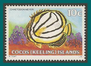 Cocos 1980 Butterflyfish, MNH 37,SG37