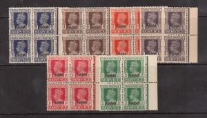 India Nabha #O43 - #O48 VF/NH Blocks