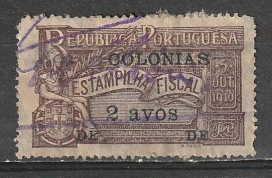 Portugal Used Revenue Colonies1910