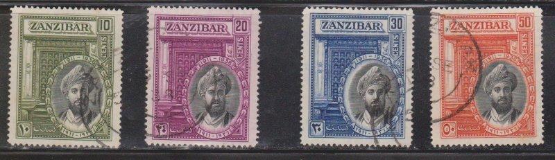 ZANZIBAR Scott # 214-7 Used - 25th Anniversary Of Sultan Klalifa