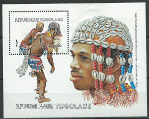 STAMP STATION PERTH Togo #1327A YTBF240 MNH S/S CV$13 Togolese Hairstyles/Dancin