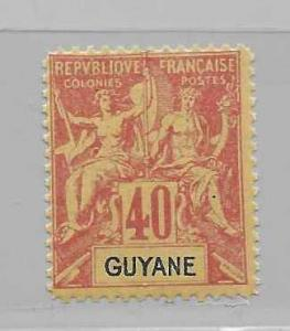 French Guiana 45 Navigation & Commerce single FOURNIER FORGERY FOR REFERENCE