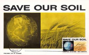 U.S. 1970, Anti-Pollution Issue, Scott #1410-1413, FDC Set on 4 Maxi Cards