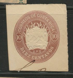 Costa Rica Postal Stationery Cut Out A17P5F840
