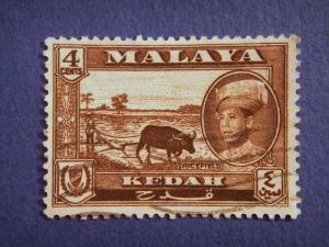 KEDAH, 1959, used 4c. sepia,  Sultan Abdul Halim Shah