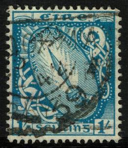 Ireland 117  Used - Sword of Light 1sh Blue (1940)