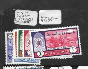 MUSCAT AND OMAN (PP0604B) SG 113-4, 118-121  MNH