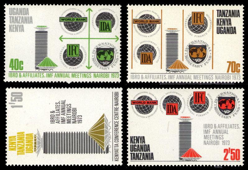 K.U.T. 1973 Scott #267-270 Mint Never Hinged