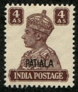 India - Patiala SC# 111 (SG# 112) King George VI, 4a MVLH