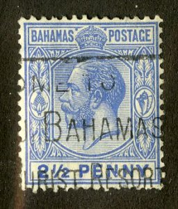 BAHAMAS 75 USED SCV $3.00 BIN $1.25 ROYALTY
