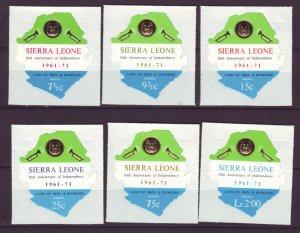 J24485 JLstamps 1971 sierra leone set  mnh #c137-42 designs