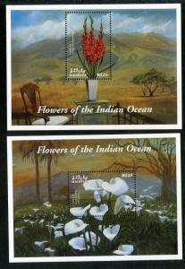 MALDIVES 2492-2493 MNH S/S SCV $10.00 BIN $6.00 FLOWERS