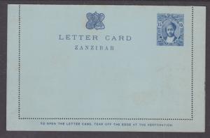 Zanzibar H&G A3 mint 1918 15c deep blue Letter Card