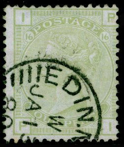 SG153, 4d sage-green plate 16, USED, CDS. Cat £300. PI