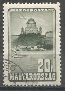 HUNGARY, 1947, used 20f, Cathedral of Esztergom, Scott C46