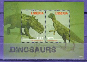 LIBERIA  -  2012 Prehistoric Animals - Dinosaurs   M2466
