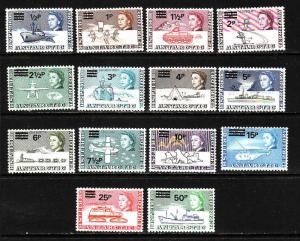 British Antarctic Territory-Sc#25-38-unused NH set-Ships-1971-